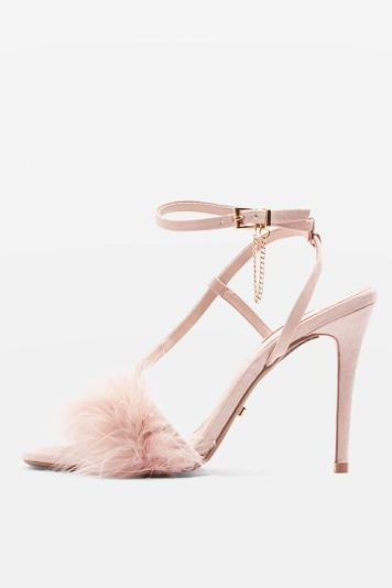 topshop feather sandle