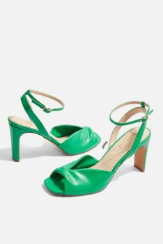 topshop raven knot skinny heel sandle bright section