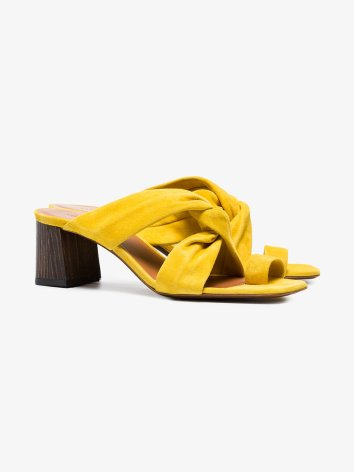 yellow neous inopsis 55 suede mules