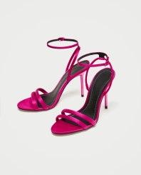 zara pink satin sandals 29.99